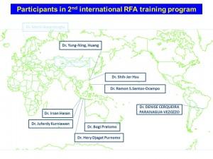 世界地図 Participants in 2nd international RFA training program