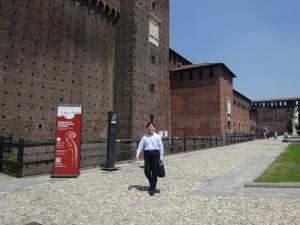 スフォルツェスコ城の回廊